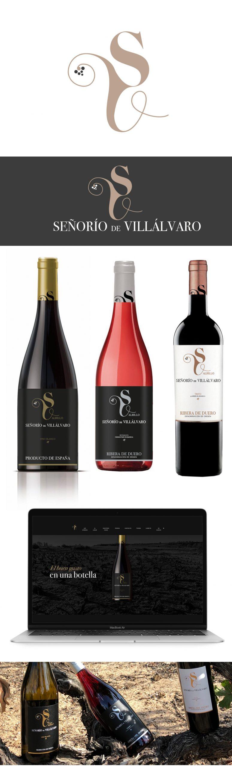 señorio de villalvaro web logotipo etiqueta vino